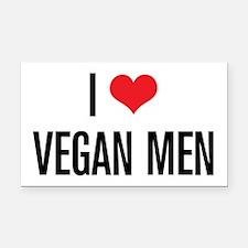 I Love Vegan Men Rectangle Car Magnet