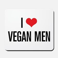 I Love Vegan Men Mousepad