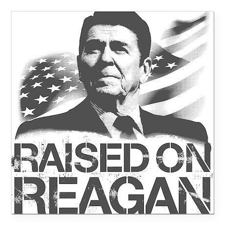 Raised on Reagan Square Car Magnet