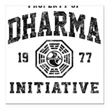 Dharma Faded Square Car Magnet