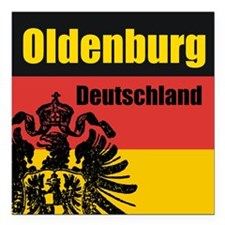 Oldenburg Deutschland Square Car Magnet