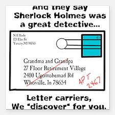 Detective Square Car Magnet