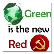Green is the new Red Square Car Magnet