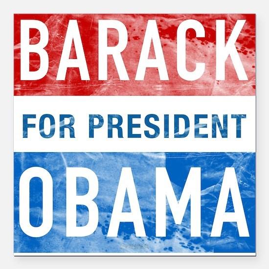 Barack Obama for President Square Car Magnet