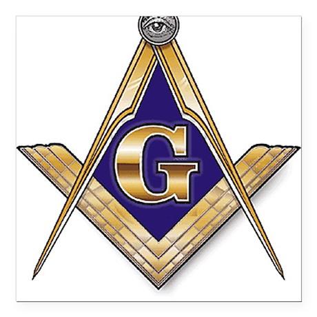 Masonic Square Car Magnet