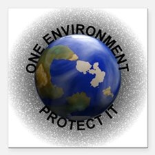 Earth Day Square Car Magnet