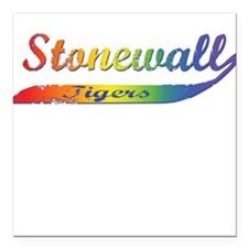 Stonewall Tigers Square Car Magnet