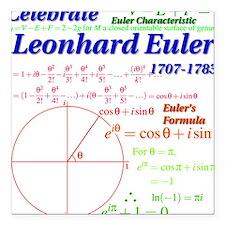 Celebrate Euler Light Color Square Car Magnet