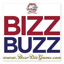 Bizz Buzz Square Car Magnet (White)