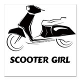 Scooter girl Car Magnets