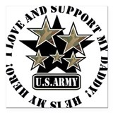 Army daddy Square Car Magnets