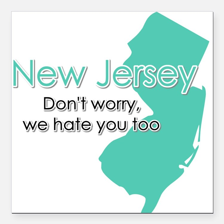 New Jersey Square Car Magnet