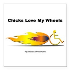 """Chicks Love"" Square Car Magnet"