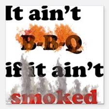 Bbq-smoked Square Car Magnet