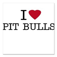 I Heart Pit Bulls Creeper Square Car Magnet