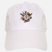 Wings and Ribbon Multiple Sclerosis Baseball Baseball Cap