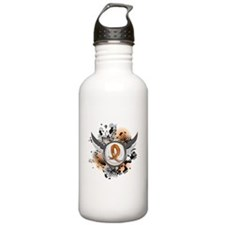 Wings and Ribbon Multiple Sclerosis Sports Water Bottle