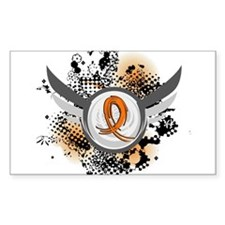 Wings and Ribbon Multiple Sclerosis Decal