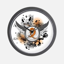 Wings and Ribbon Multiple Sclerosis Wall Clock