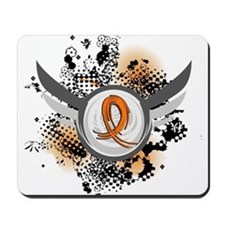 Wings and Ribbon Multiple Sclerosis Mousepad