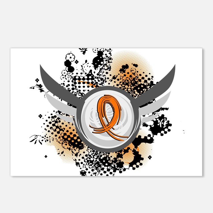 Wings and Ribbon Multiple Sclerosis Postcards (Pac
