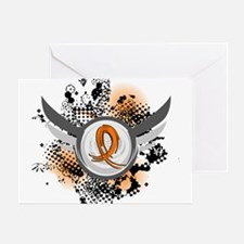 Wings and Ribbon Multiple Sclerosis Greeting Card