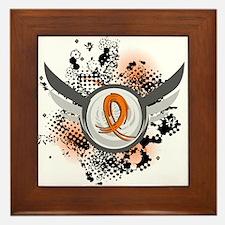 Wings and Ribbon Multiple Sclerosis Framed Tile