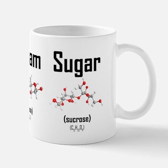 Coffee, Cream and Sugar Molecule Mug