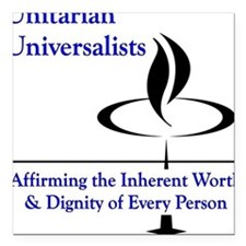 Affirming Worth & Dignity Square Car Magnet