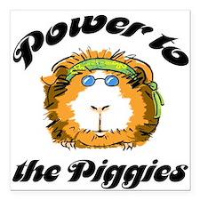Power to the Piggies Square Car Magnet