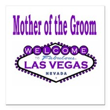 Purple LV Mother of the Groom Square Car Magnet