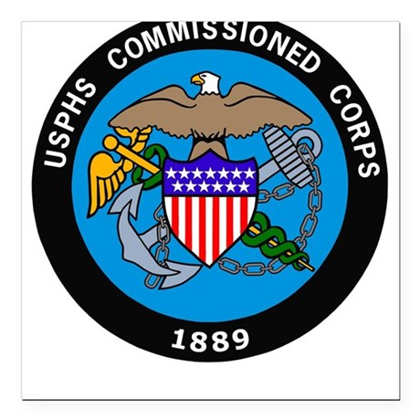 USPHS <BR>Square Car Magnet 14