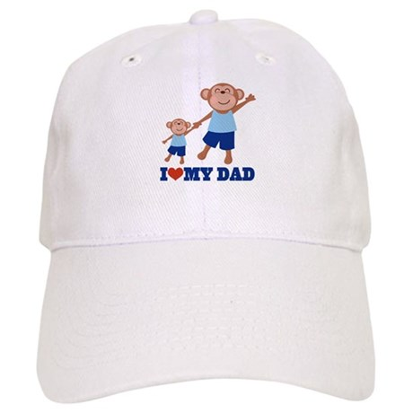 I Heart Dad Monkey Cap