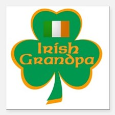 Irish Grandpa Square Car Magnet