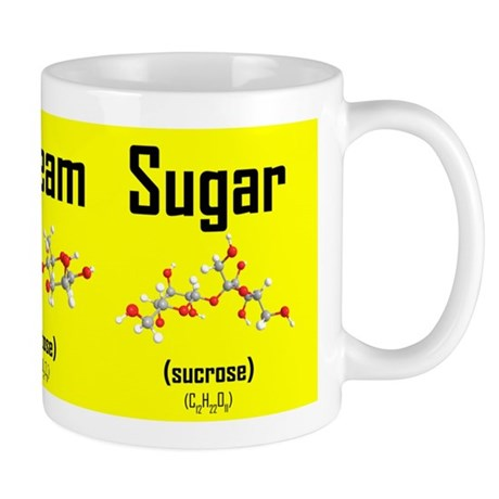 Coffee, Cream and Sugar Molecule Mug (yellow) Mug