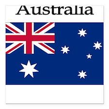Australia Square Car Magnet