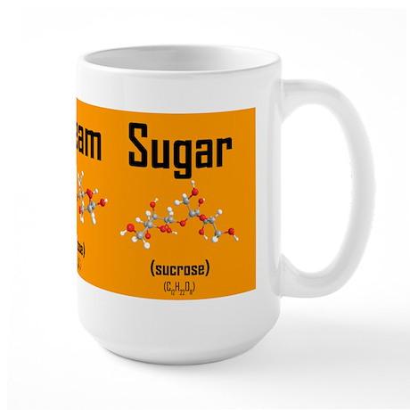 Coffee, Cream and Sugar Molecule Mug (orange) Larg