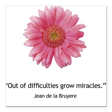 Miracles Square Car Magnet