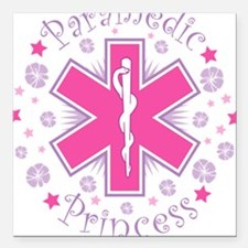 Paramedic Princess Square Car Magnet