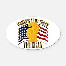 WAC Veteran Oval Car Magnet