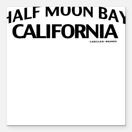 Half Moon Bay Square Car Magnet