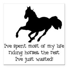 ...riding horses Square Car Magnet
