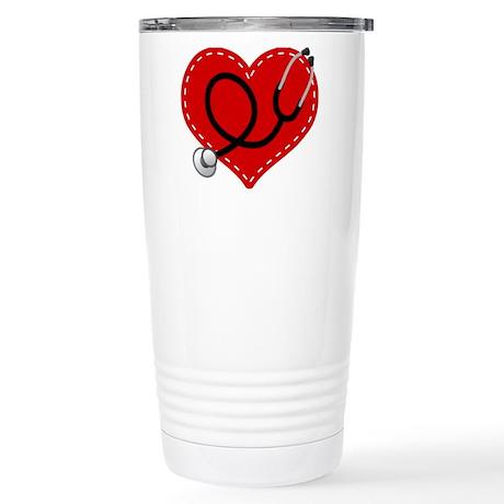 Doctor Nurse Heart Stainless Steel Travel Mug