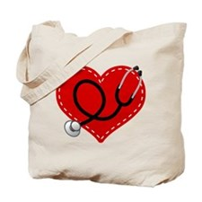 Doctor Nurse Heart Tote Bag