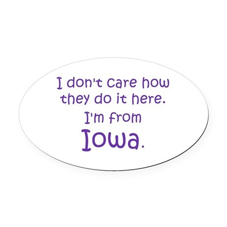 From Iowa Oval Car Magnet