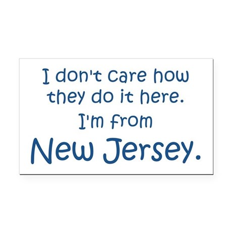 From New Jersey Rectangle Car Magnet