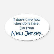 From New Jersey Oval Car Magnet