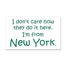 From New York Rectangle Car Magnet