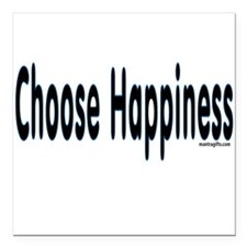 Choose Happiness Square Car Magnet