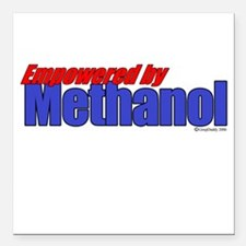Empowered by Methanol Square Car Magnet